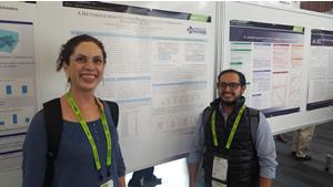 Dra. Liliana I. Barbosa Santillán y Mgst. Gabriel A. León Paredes presentando su póster científico en la GPU Technology Conference